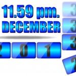 Date number format 11.59pm December 2013